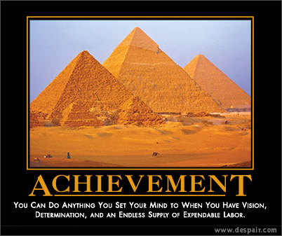 Achievement Demotivators Poster