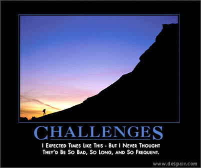 Challenges Demotivators Poster