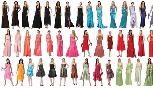 Gowns, dresses, formal wear