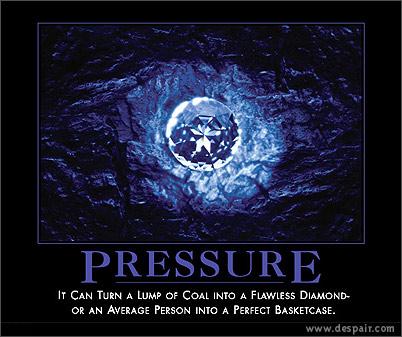 Pressure Demotivators Poster