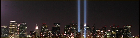 9/11 September 11th World Trade Center Lights Memorial