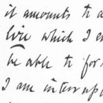 Robert Browning Handwriting Sample