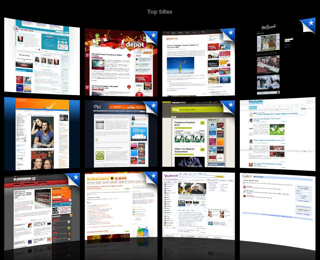 Safari Top Sites