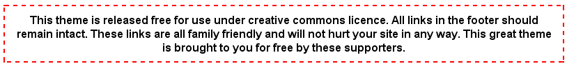 WordPress Theme Creative Commons Message