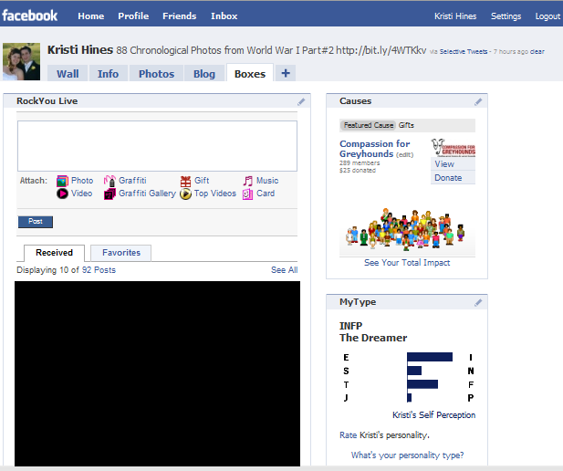 Facebook Boxes Tab