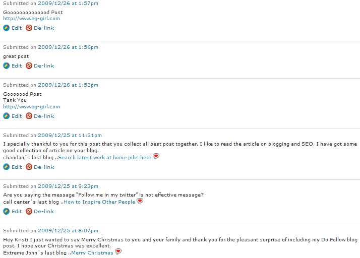 CommentLuv Comments in Spam Filter