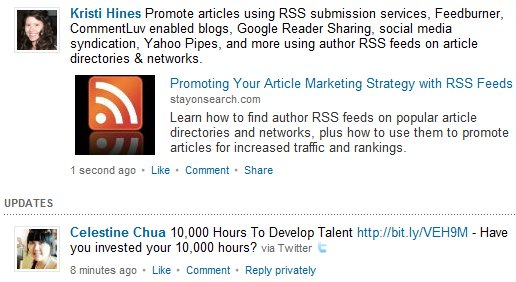LinkedIn Attach Link Display