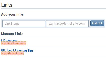 New Digg Links Setting