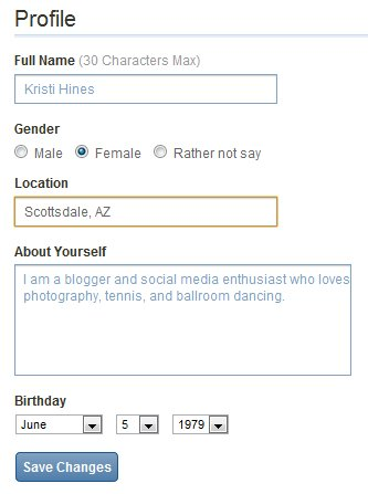 New Digg Profile Settings