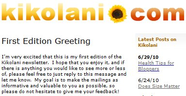Kikolani Newsletter