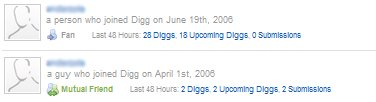 Old Digg Mutual Friends and Fans