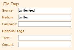 Twitterfeed UTM Tags