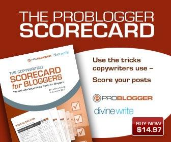 ProBlogger Copywriting Blogger Scorecard
