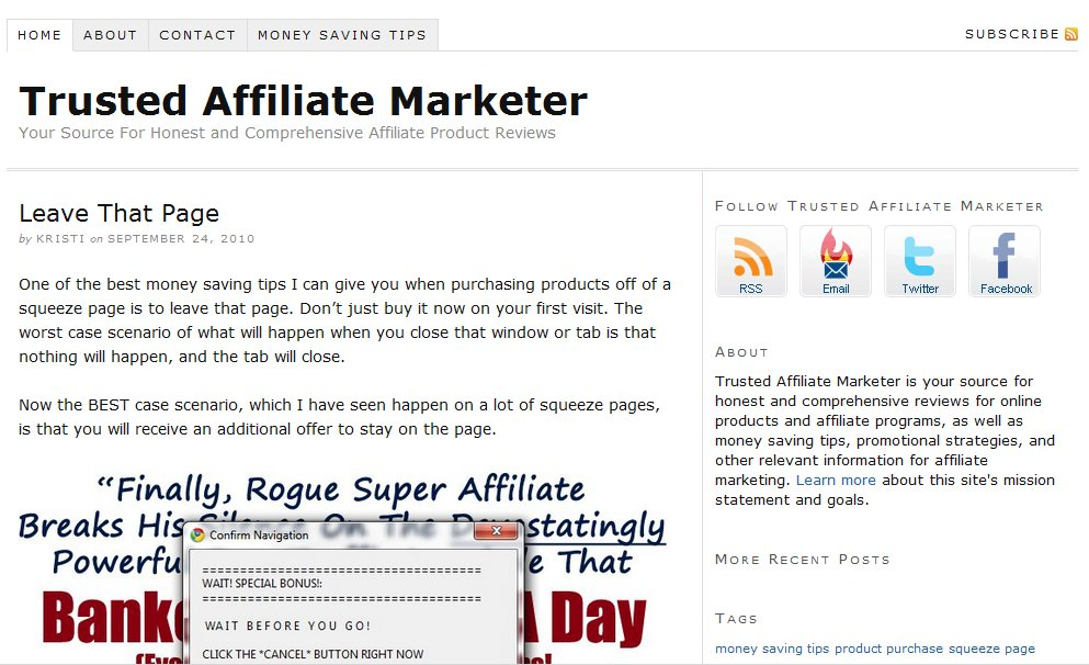 Trusted Affiliate Marketer