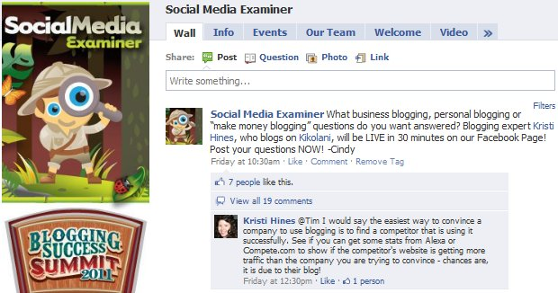 Social Media Examiner Blogging Q&A