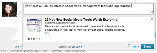 LinkedIn Profiles - Attach Link
