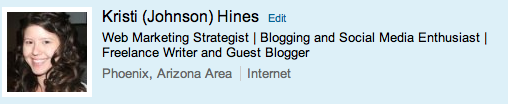 LinkedIn Profile - Headline