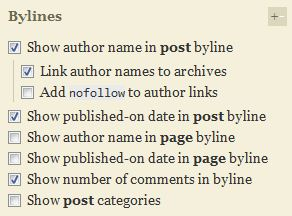 Thesis Byline Site Options