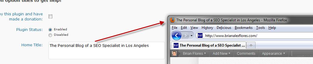 All-in-One SEO WordPress Plugin - Home Title