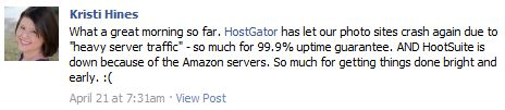 HostGator Facebook Post