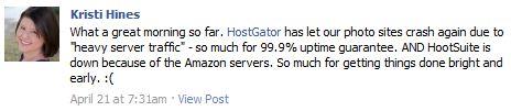 HostGator Facebook Post