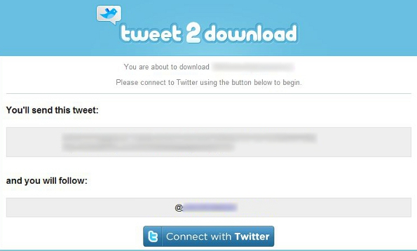 Tweet2Download Actions