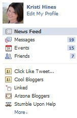 Facebook Groups in the Sidebar