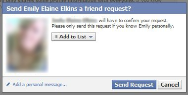 Adding a Personal Message to Facebook Friend Request