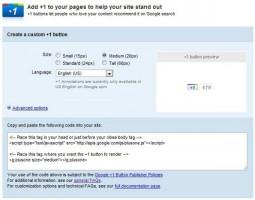 Google +1 Code Generator