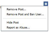 Remove Post and Ban Page User