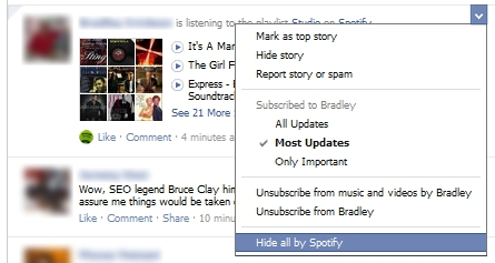New Facebook News Feed Updates - Hide All By Application Setting