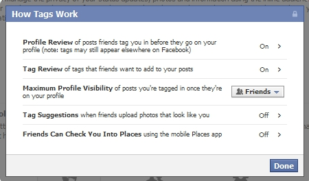 New Facebook Privacy Settings - How Tags Work & Profile Review