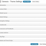 Genesis Framework Theme Settings Admin Options