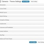 Genesis Framework Theme Settings Admin Options