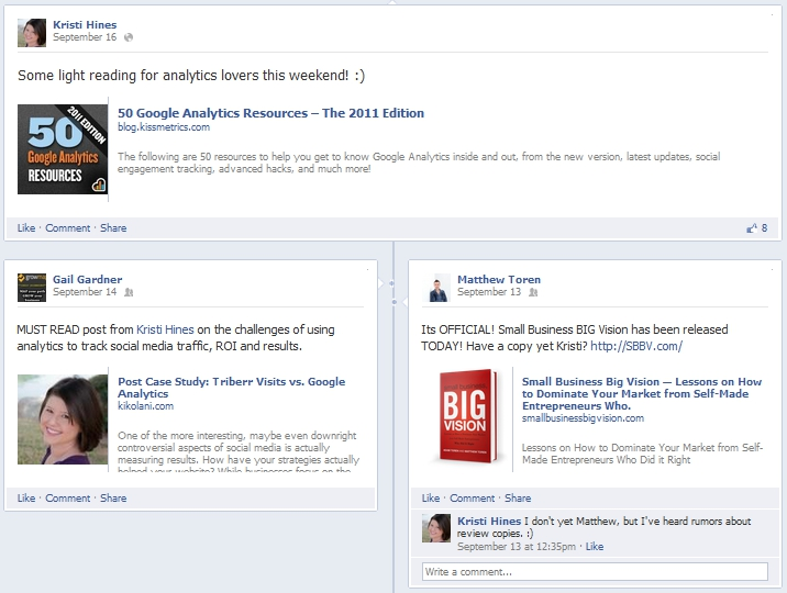 New Facebook Personal Profile Feature on Timeline