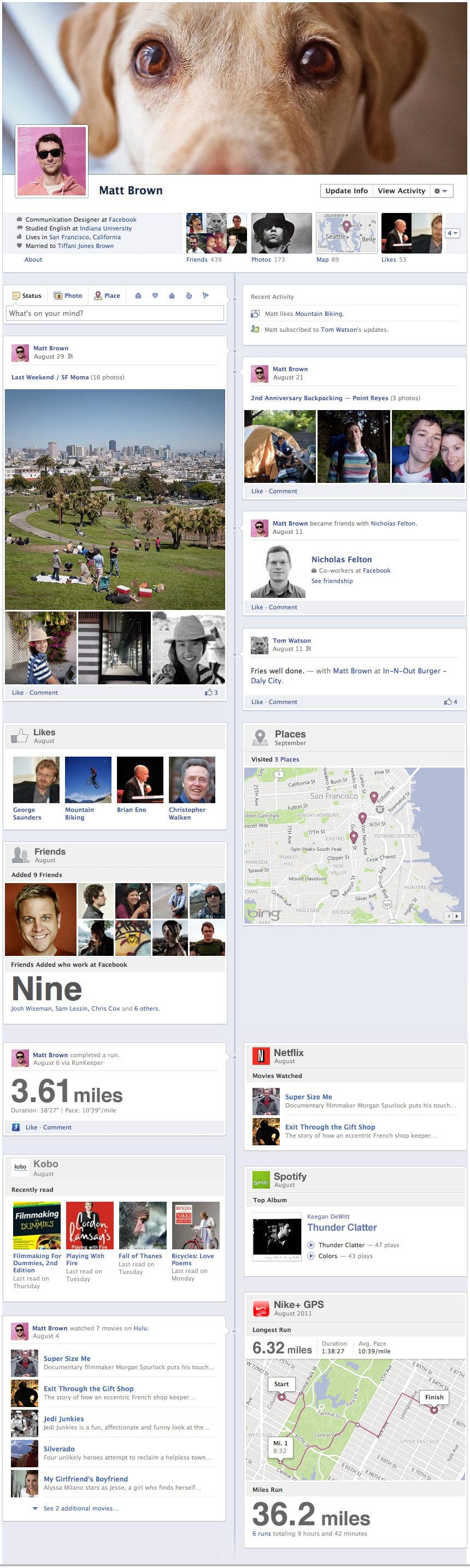 New Facebook Profile Timeline Design Complete