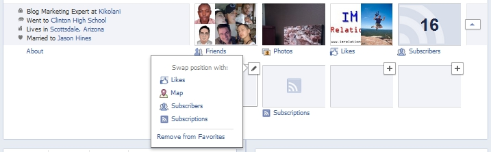 New Facebook Timeline Profile Boxes