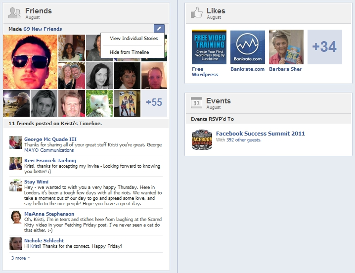 New Facebook Timeline Summaries