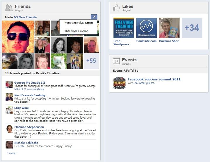 New Facebook Timeline Summaries