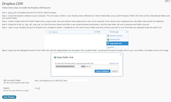 Dropbox CDN WordPress Plugin