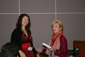 Blog World LA 2011 - Network Solutions Lunch - Kristi Hines & Cloris Leachman