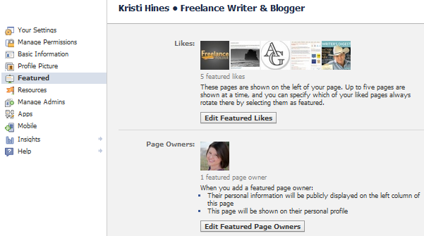 Featured Likes and Page Owners on Facebook Fan Pages