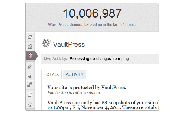 WordPress Backups with VaultPress