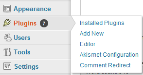 Comment Redirect Settings Location