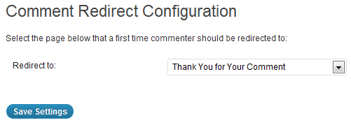 Comment Redirect Settings