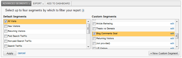 Google Analytics 5 - Comparing Advanced Segments