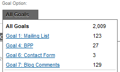 Google Analytics 5 Conversions Goals Overview Options