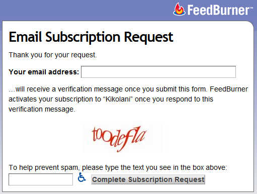 Email Subscriptions via Feedburner
