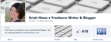 New Facebook Pages Timeline Design - About Section Links