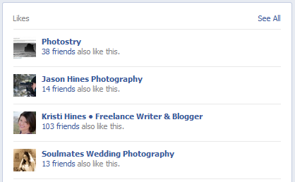 New Facebook Pages Timeline Design - Featured Likes